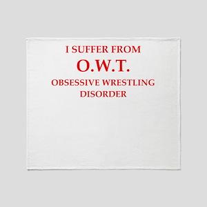 wrestling Throw Blanket