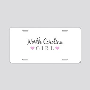 North Carolina Girl Aluminum License Plate