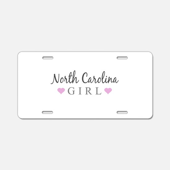 North Carolina Girl Aluminum License Plate