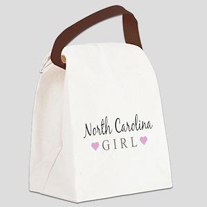 North Carolina Girl Canvas Lunch Bag