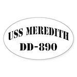 USS MEREDITH Sticker (Oval)