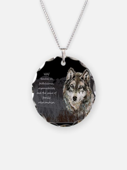 Wolf Totem Animal Spirit Guide for Inspiration Nec
