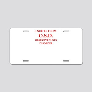 slots Aluminum License Plate