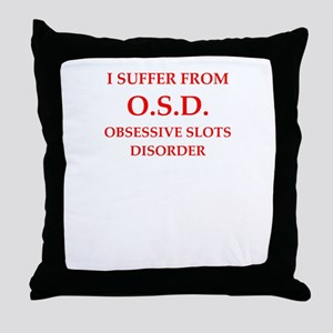 slots Throw Pillow