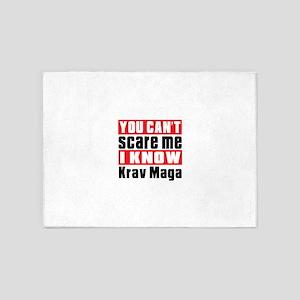 I Know Krav Maga 5'x7'Area Rug
