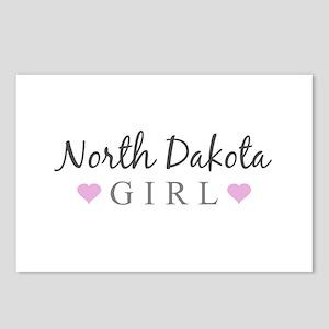 North Dakota Girl Postcards (Package of 8)