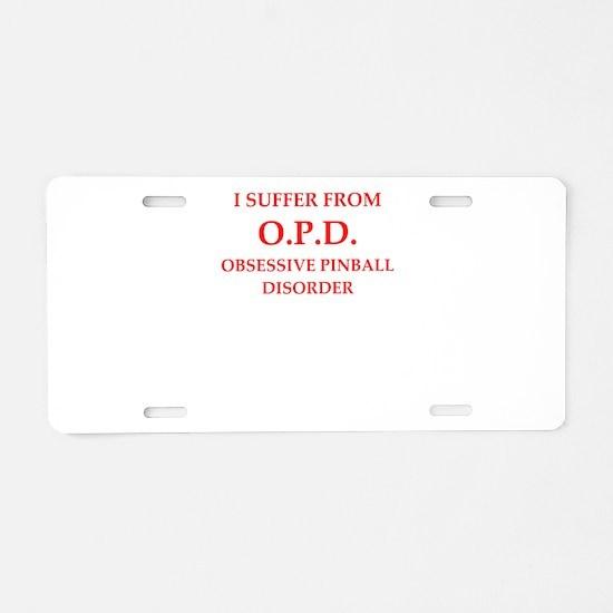 pinball Aluminum License Plate