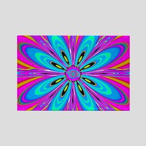 Light Blue Flower Magnets