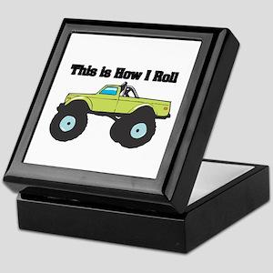 How I Roll (Monster Truck) Keepsake Box