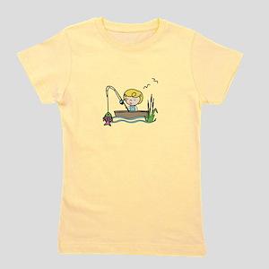 Fishing Girl Girl's Tee