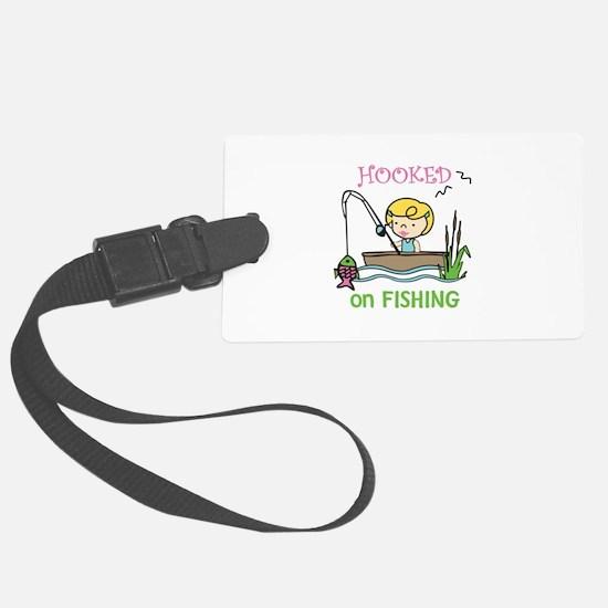 Hooked Fishing Luggage Tag