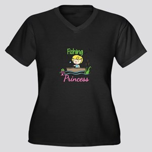 Fishing Princess Plus Size T-Shirt