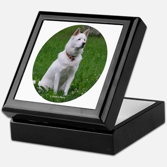 White Dog Keepsake Box