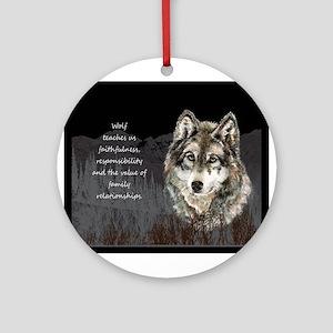 Wolf Totem Animal Spirit Guide for Inspiration Orn