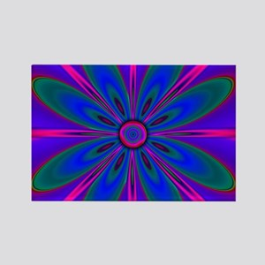 Purple Flower Magnets
