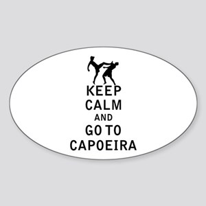 Keep Calm and Go To Capoeira Sticker