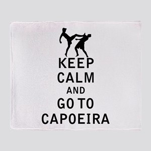 Keep Calm and Go To Capoeira Throw Blanket