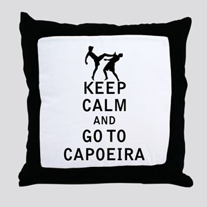 Keep Calm and Go To Capoeira Throw Pillow