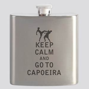 Keep Calm and Go To Capoeira Flask