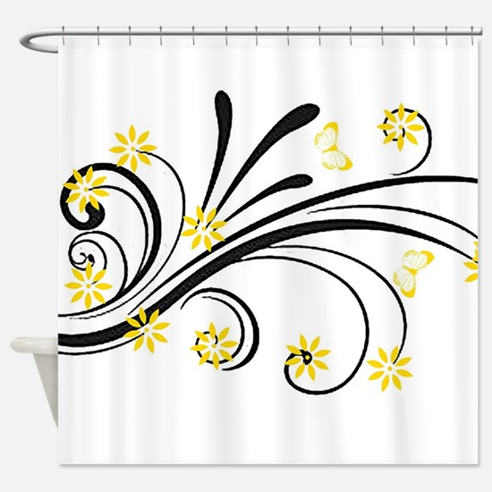 Cute Yellow Shower Curtain