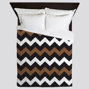 Black Brown And White Queen Duvet