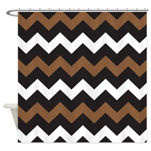 Dark Brown Shower Curtains