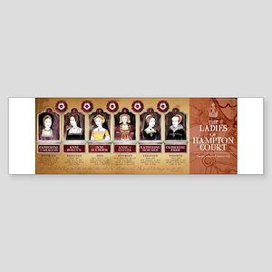 Hampton Court, Tudor Wives Sticker (Bumper)