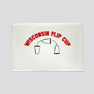 Wisconsin Flip Cup Rectangle Magnet