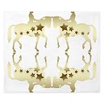 Golden star horse pattern King Duvet
