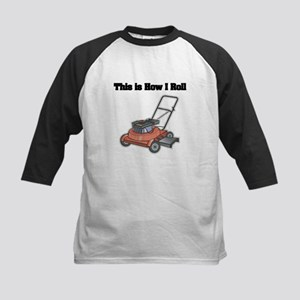 How I Roll (Lawn Mower) Kids Baseball Jersey
