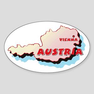 Austria Map Oval Sticker