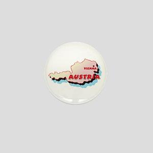 Austria Map Mini Button