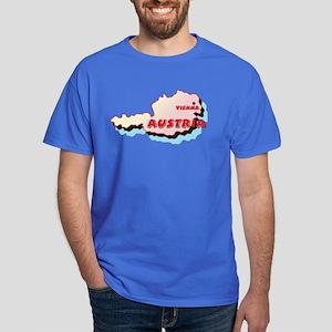 Austria Map Dark T-Shirt