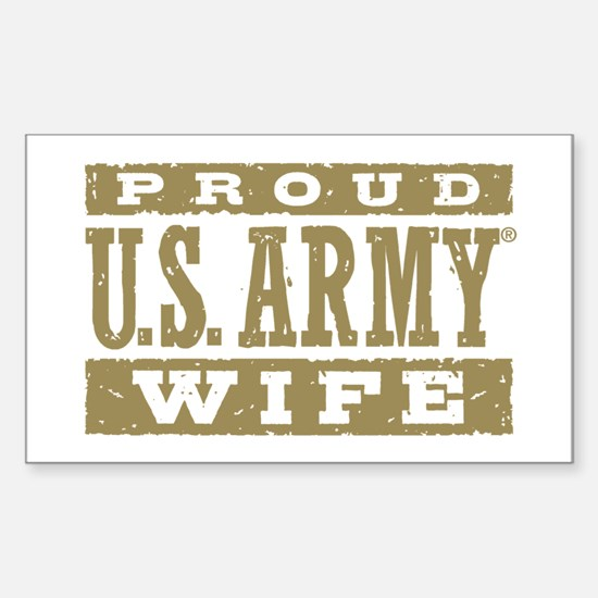 Proud US Army Wife Sticker (Rectangle)