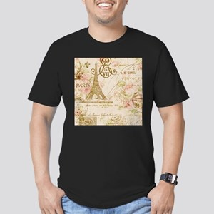 floral paris eiffel tower roses T-Shirt