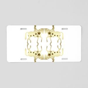 Golden star horse pattern Aluminum License Plate