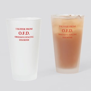 fencing Drinking Glass