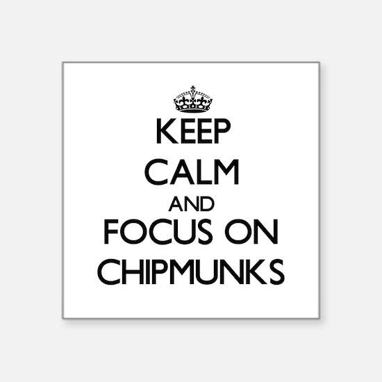 Keep Calm and focus on Chipmunks Sticker