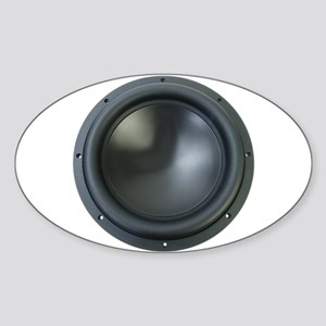 Subwoofer Oval Sticker