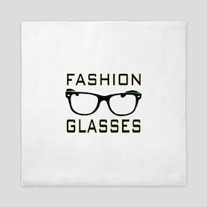 Fashion Glasses Queen Duvet