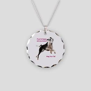 Saluki Necklace Circle Charm