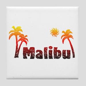 Malibu Sunrise Tile Coaster