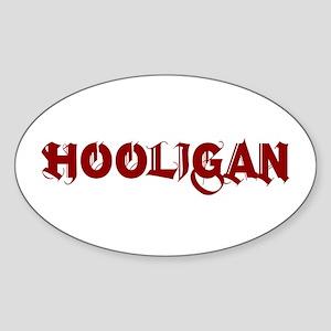 HOOLIGAN2 Oval Sticker
