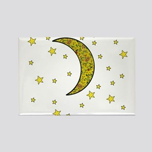 Yellow Moon Stars by designeffects Magnets