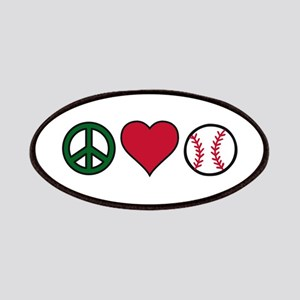 Peace Heart Baseball Patches