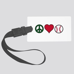 Peace Heart Baseball Luggage Tag