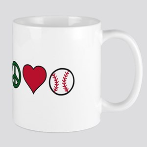 Peace Heart Baseball Mugs