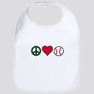 Peace Heart Baseball Bib