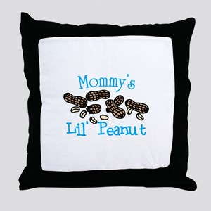 Mommys Lil Peanut Throw Pillow