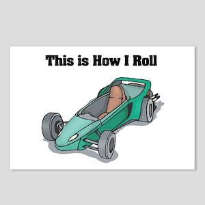 How I Roll (Go Kart/Cart) Postcards (Package of 8)